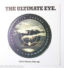 Leica Ultimate Eye Lens Sales Brochure Literature 1977 - English - Used B27