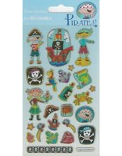 Paper Projects 23x Re-usable Pirates Stickers Mg303