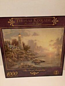"Thomas Kinkade 1000 Piece Jigsaw Puzzle ""The Sea of Tranquility"" Brand NEW"