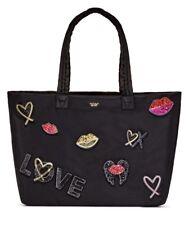 VICTORIAS SECRET TOTE WEEKENDER RUNWAY PATCH Zip Top Bag - BRAND NEW
