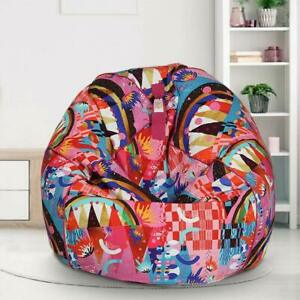 Bean bag XXL Cotton Chair Sofa Cover Without Beans for a luxury Home Decor