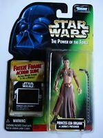 1997 Star Wars POTF Princess Leia Prisoner Freeze Frame Action Slide Figure