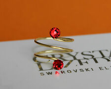 Silver/Gold Adjustable Toe/Knuckle Ring made with Swarovski Crystal Elements