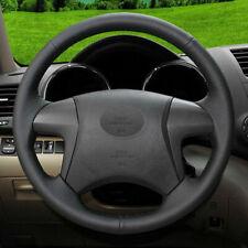 DIY Black Genuine Leather Car Steering Wheel Cover for Toyota Highlander 2013