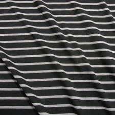 Stoff Meterware Jersey Baumwolle Streifen schwarz grau gestreift Ringeljersey