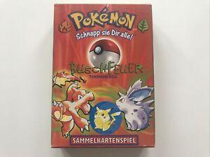 Pokémon Sammelkartenspiel Themendeck Buschfeuer Basis Set LEER EMPTY! Deutsch