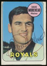 New listing Dave Morehead Signed 1969 Topps #29 Royals AUTO JSA Sticker On Back
