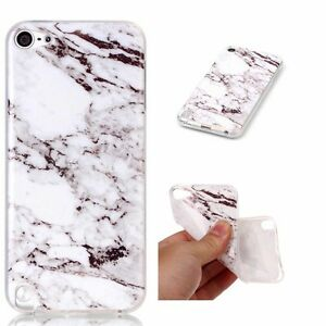 For iPod Touch 5th 6th 7th Gen - Hard TPU Rubber Case Cover Marble Stone Pattern