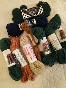 Lot of 9 Wool Tapestry Needlepoint Crewel Yarn ~ Bucilla NOVA Lees LAINE COLBERT