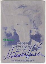 2014 POP CENTURY PRINT PLATE AUTO:NATASHA HENSTRIDGE #1/1 LIVE ON CARD AUTOGRAPH