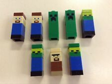 X8 LEGO Minecraft Micro World Figures Steve Creeper Bulk Lot Minifigures