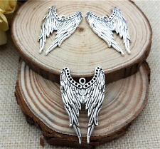 Wholesale 4pcs Tibetan silver angel wings Charm Pendant beaded Jewelry Findings