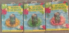 INFLATABLE CUP HOLDER excelent For Cans, Cups & Bottles Sparkle Inside