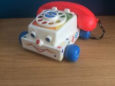 Vintage Fisher-Price Chatter Telephone Toddler Pull Along Toy