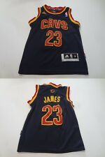 Youth Cleveland Cavs Lebron James S (8) Embroidered Jersey (Deep Navy Blue) Adid