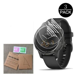 3 Pack Screen Protector Hydrogel Film Soft Clear Full Screen For Vivoactive 4 4S