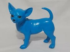 MOC Mind Of Canine Bubble The Chihuahua Resin POP Art Sculpture-Blue