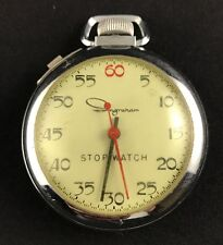 Vintage Ingraham Wind Up Stop Watch - Works Well