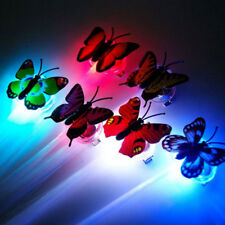 LED Colorful Butterfly Flashing Hair Braid Lights Up Christmas Party Wig Novelty