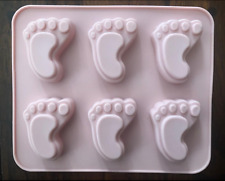 BABY SHOWER FEET SILICONE FONDANT CHOCOLATE CANDY ICE MOLD