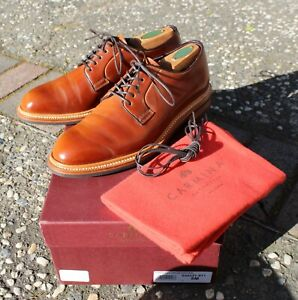 Carmina Natural Shell Cordovan Plain Toe Blucher 531 Oscar Size UK 5.5E US 6.5D