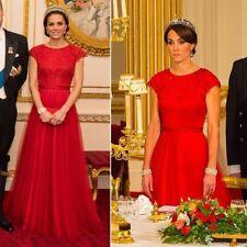 Jenny Packham Red Crystal Studded Gown Dress USA 6 Uk 10