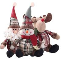 Christmas Decor Doll Santa Claus Snowman Reindeer Hanging Ornaments Table Cute