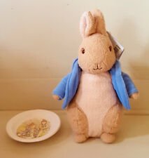 peter rabbit teddy and dish