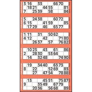 48000 Bingo Tickets 12 to View Flyers Singles Quickies Mixed Colours