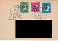 DDR Brief  Sammlerpost 1965 Leipziger Messe Mi.1130-32