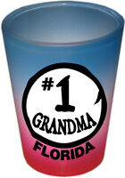 FLORIDA SOUVENIRS FUNNY SHOT GLASS - COLLECTABLE NOVELTY GIFT - #1 GRANDMA