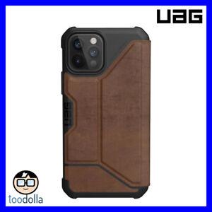 UAG Urban Armor Gear Metropolis Wallet Case, Leather, iPhone 12 / 12 Pro, Brown