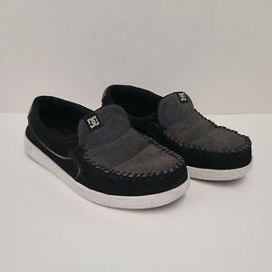 DC Villain mens Slip On shoe size 10 Black Gray Leather Upper
