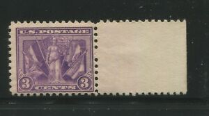 1919 US 3 Cent Postage Stamp #537a Mint Never Hinged F/VF Original Gum Certified