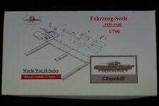 HP Models 1:700 Fahrzeug-Serie --Bausatz mit 12  britischen Churchill-Panzern