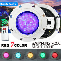 12V 54W 7-Color RGB LED Swimming Pool Light Lamp Underwater + Remote NEW h