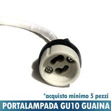 PORTALAMPADA CERAMICA GU10 CON GUAINA