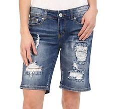 STS Blue NEW Blue US  Junior Light-Wash Distressed Denim Shorts Size 24