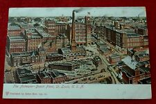 Postcard ANHEUSER-BUSCH PLANT St Louis Publisher ERKER BROS OPT Posted 1905
