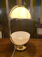 Vintage Retro Italian Table Lamp, Elio Martinelli Luce, Gold, Guzzini,