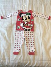 Disney Baby Toddler Girls Pj Sleep Pajamas, Minnie Mouse Christmas, 12 Mo Months
