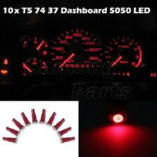 10x Red T5 Wedge 5050 SMD Speedometer Gauge Cluster LED Light Bulb 37 73 74 79