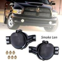 For 02-08 Dodge Ram 1500 2500 3500 Pickup Smoke Bumper Driving Fog Lights Kit