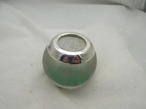 SILVER MOUNTED VICTORIAN GLASS MATCH STRIKER/TOOTH PICKHOLDER