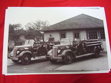 1939 GMC FIRETRUCK PAIR  WEST PATERSON NEW JERSEY   BIG 11 X 17  PHOTO  PICTURE