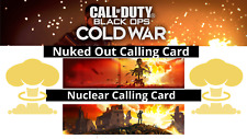 Call Of Duty COLD WAR Free For All Nuclear (nuked Out) Calling Card Service