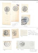 France stamps 1870-1880 Collection of Labels  INTERESTING!