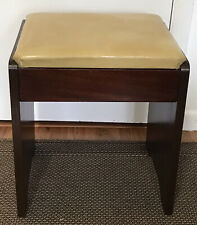 New ListingVintage Original Singer Sewing Machine # 65 Stool Bench Seat, Mahogany, Gc
