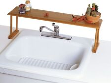 Home Indoor Kitchen Storage Organizer Over-The-Sink Bamboo Shelf Rack Holder