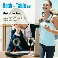 Portable Lazy Neck Hanging Dual Mini Fan Summer Outdoor Cool Fan USB Chargeable